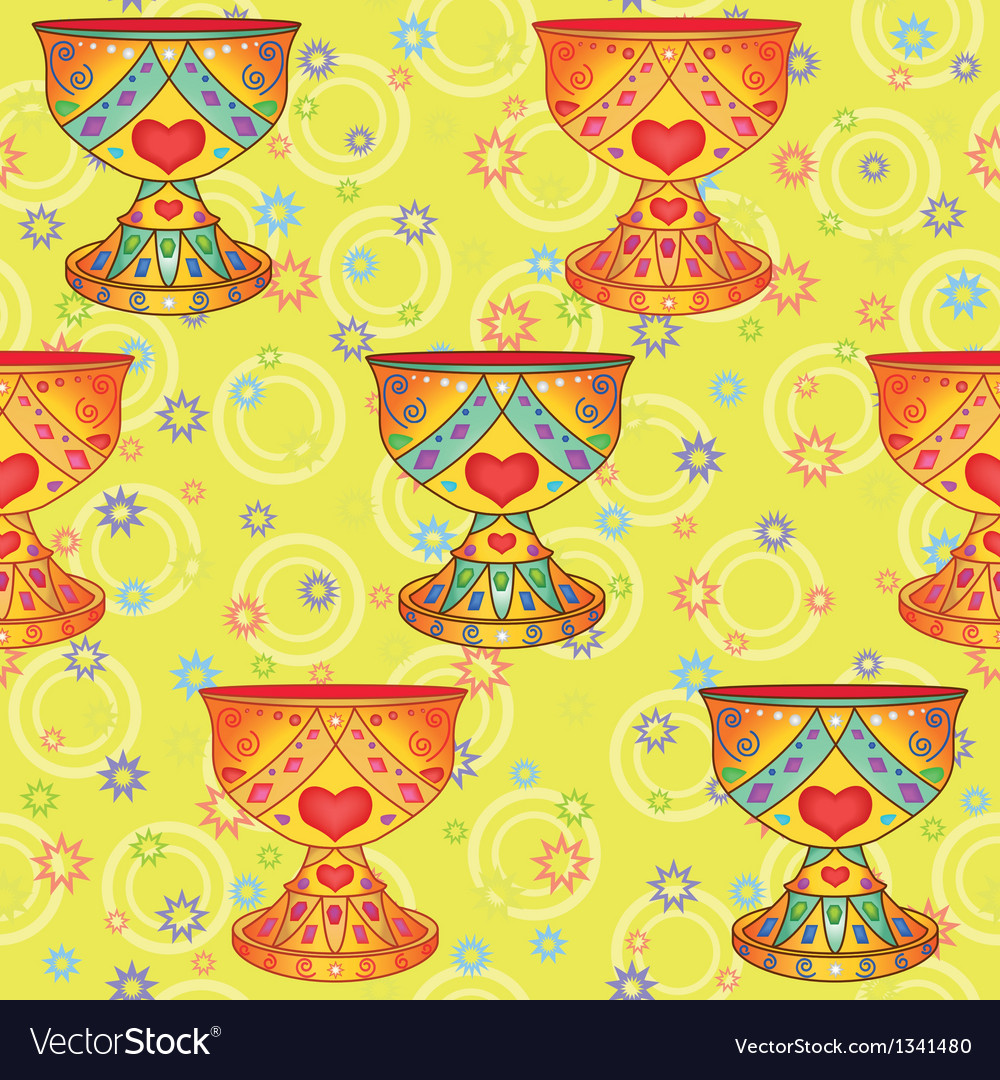 Seamless background holy grail vector | Price: 1 Credit (USD $1)