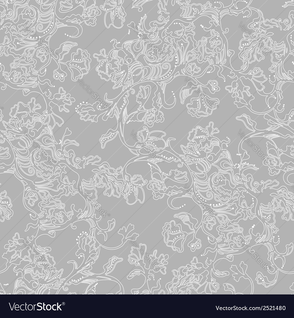 Seamless pattern abstract flowers vector | Price: 1 Credit (USD $1)