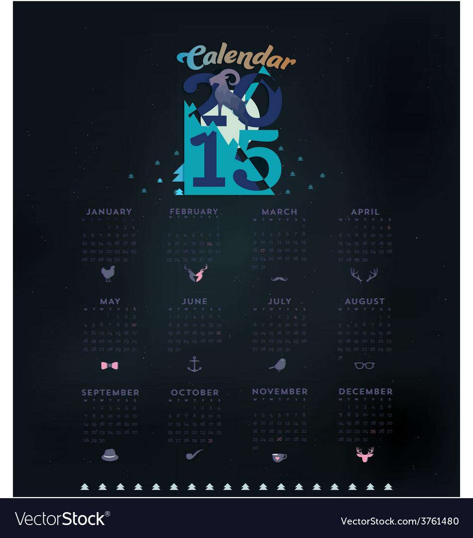 Simple 2015 calendar vector | Price: 1 Credit (USD $1)