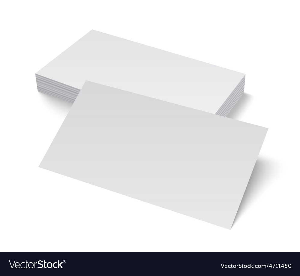 Stack of blank business card on white background vector | Price: 1 Credit (USD $1)