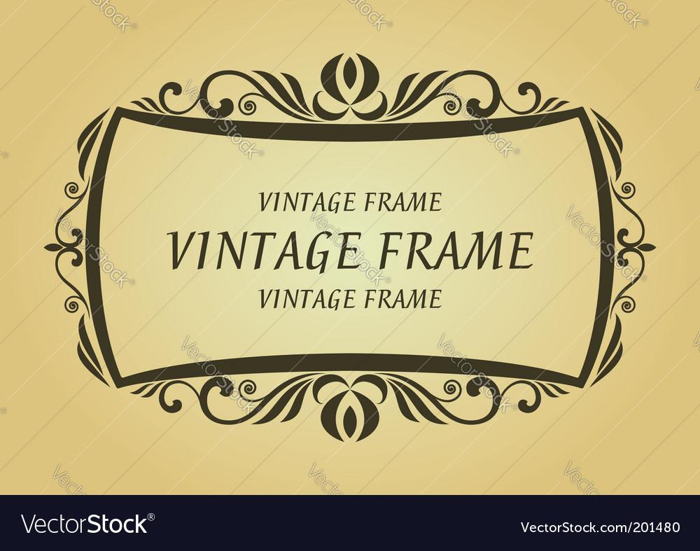 Vintage frame vector   Price: 1 Credit (USD $1)