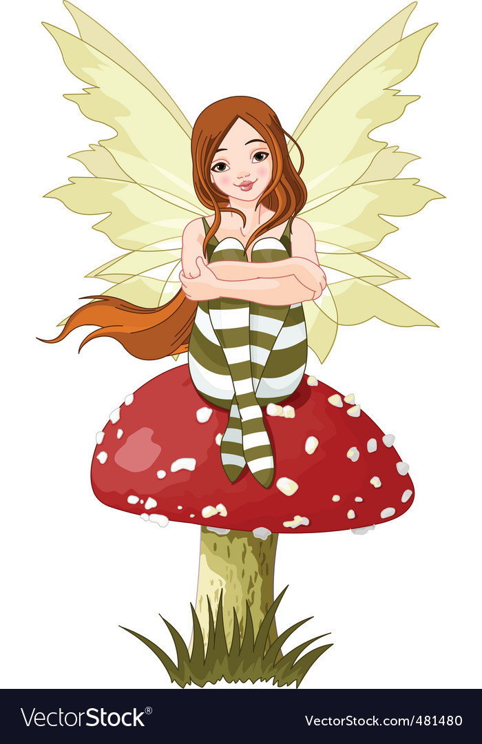 Young forest fairy vector | Price: 3 Credit (USD $3)