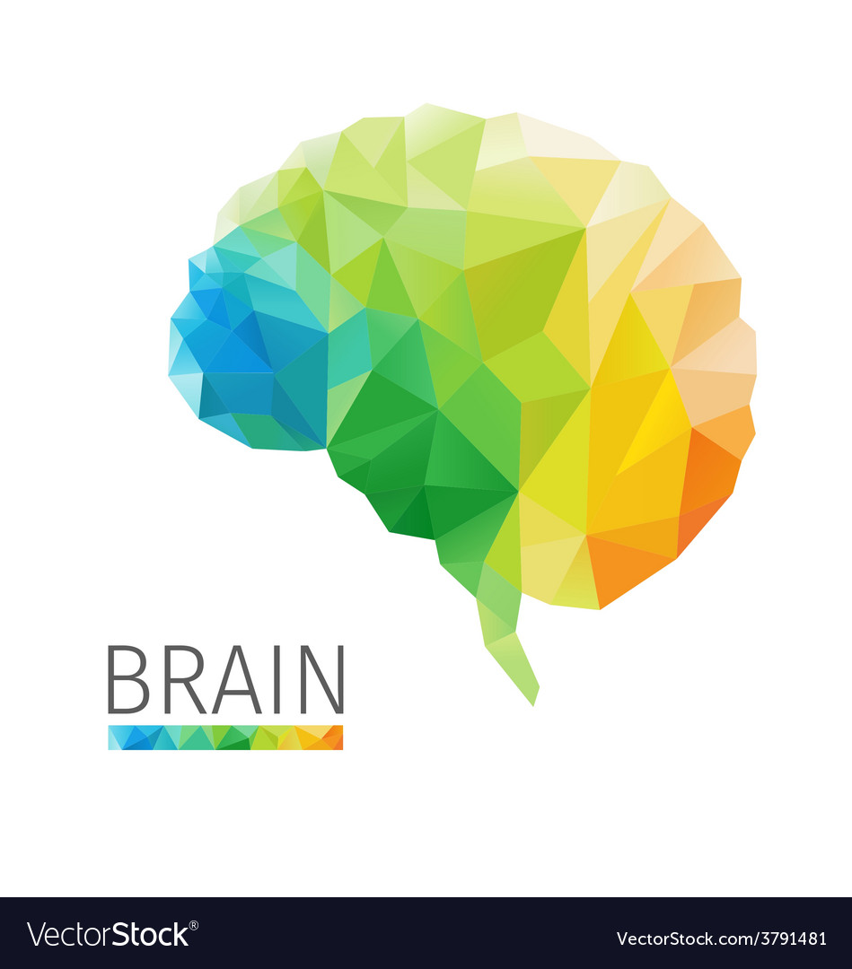 Brain polygon vector   Price: 1 Credit (USD $1)