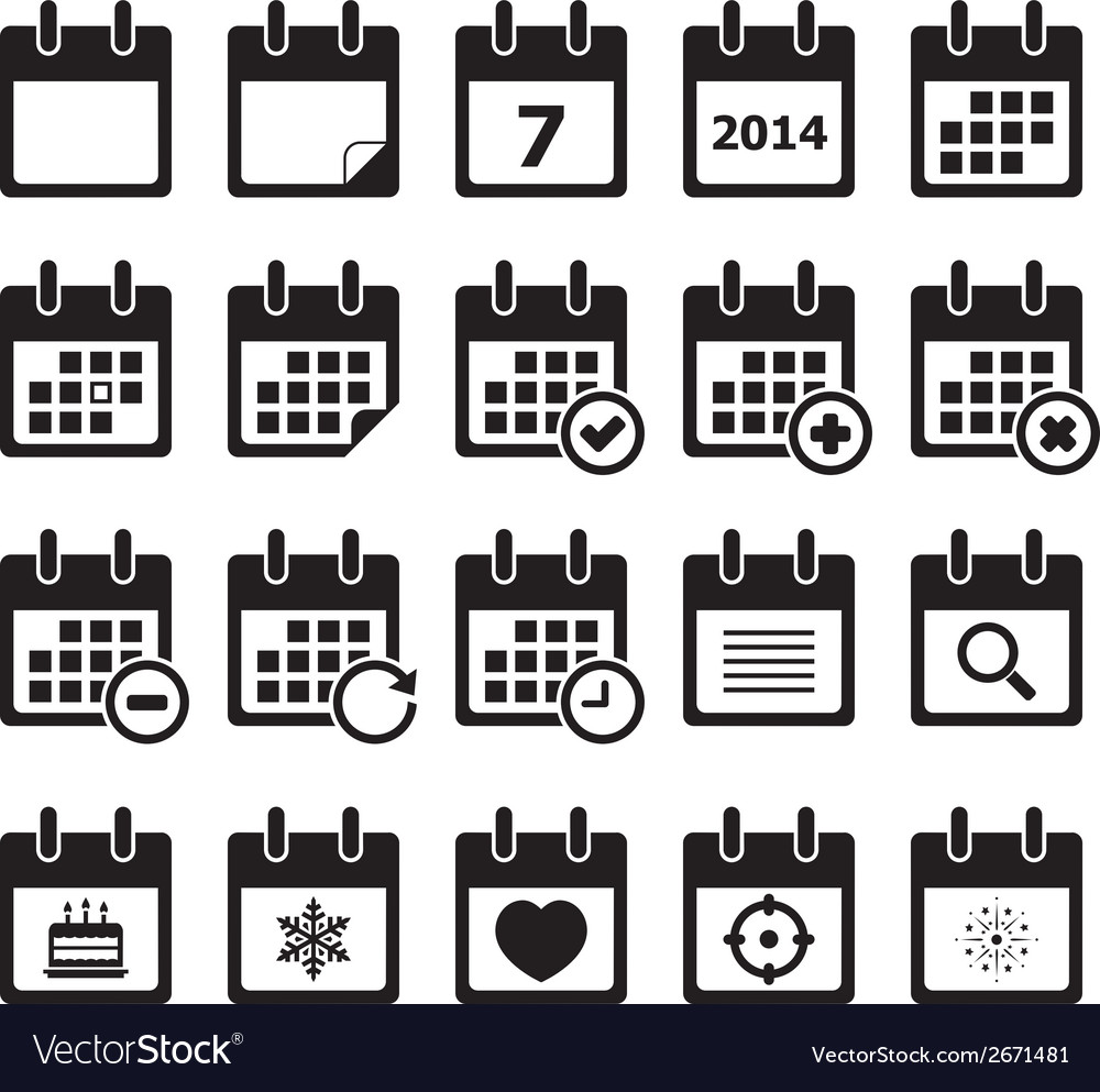 Calendar icon vector | Price: 1 Credit (USD $1)