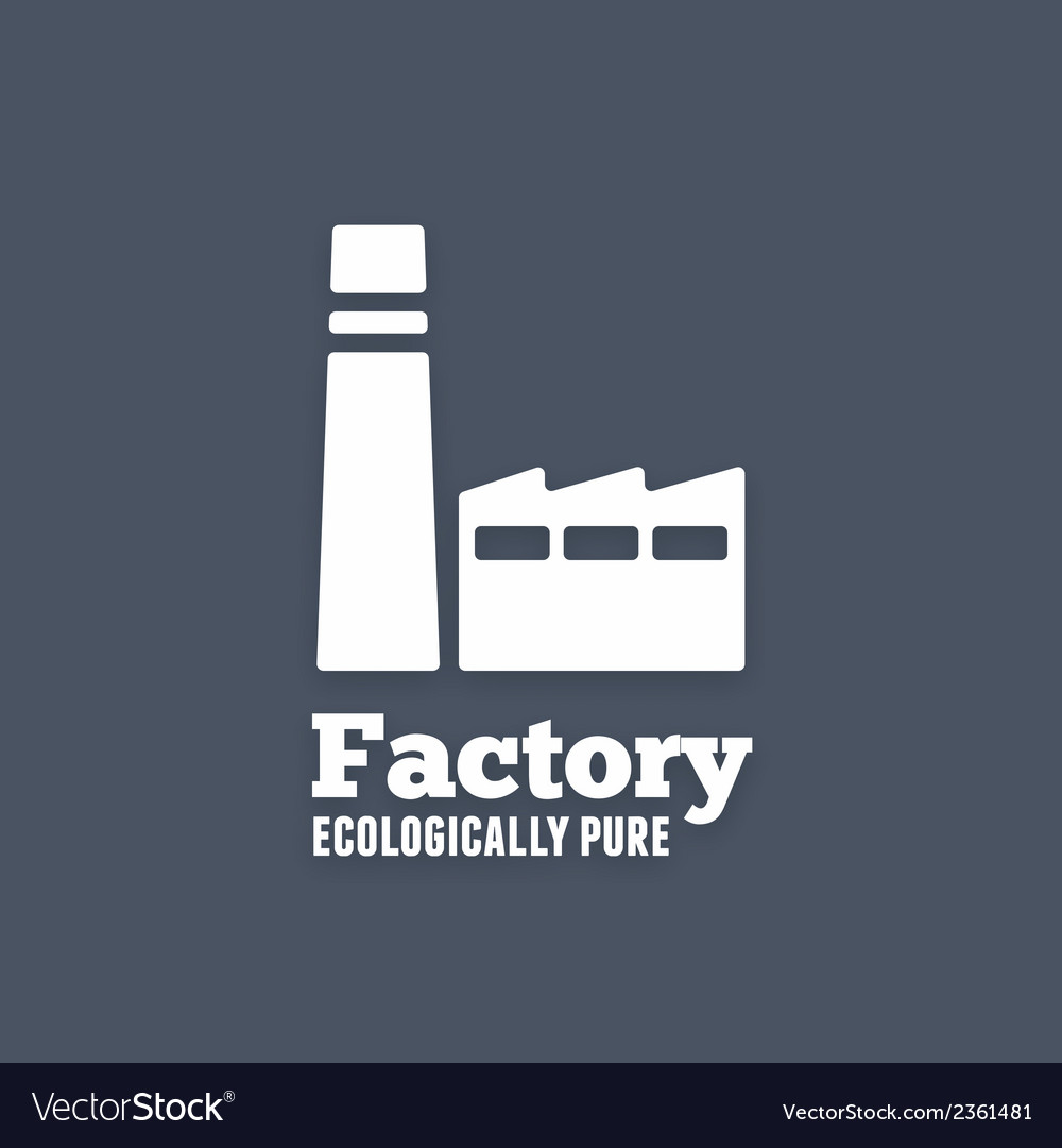 Ecologically pure factory icon or sign vector | Price: 1 Credit (USD $1)