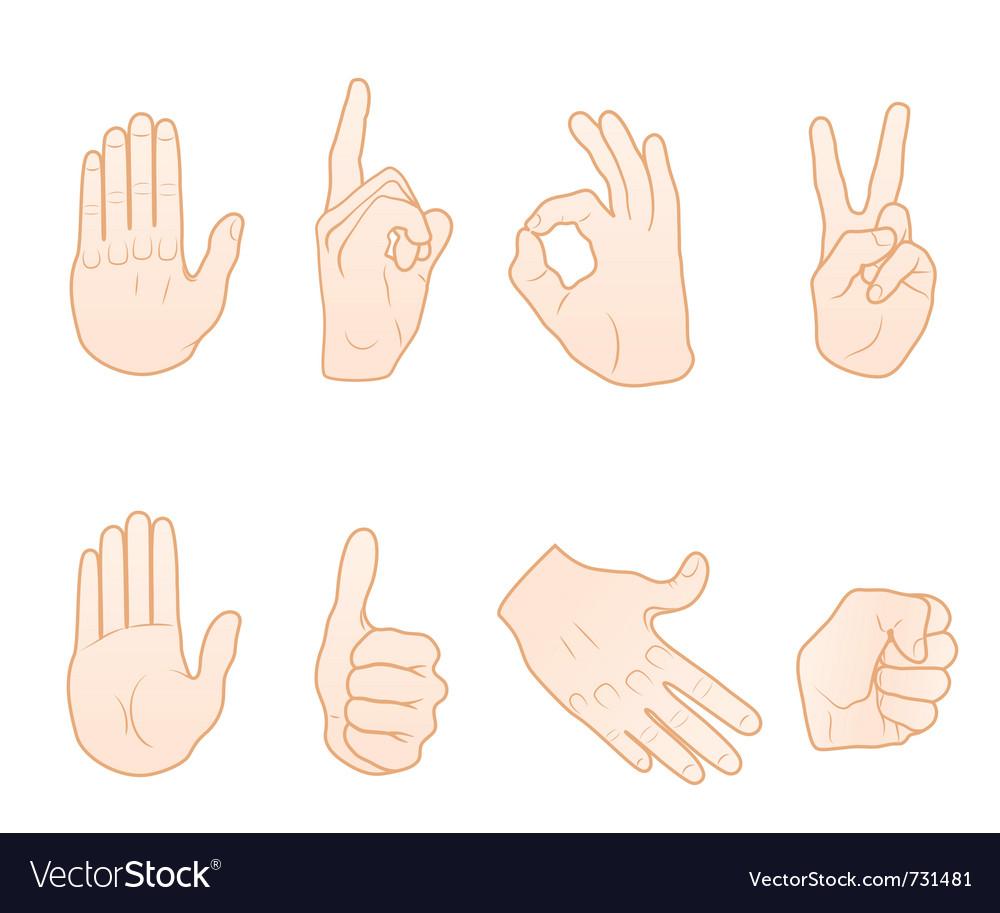 Hand gestures vector | Price: 1 Credit (USD $1)