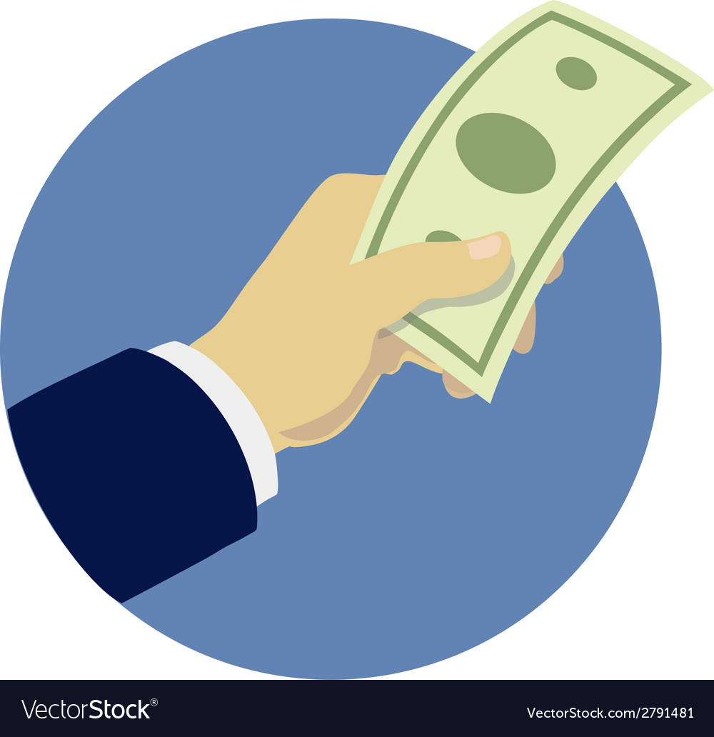 Hand giving money vector | Price: 1 Credit (USD $1)