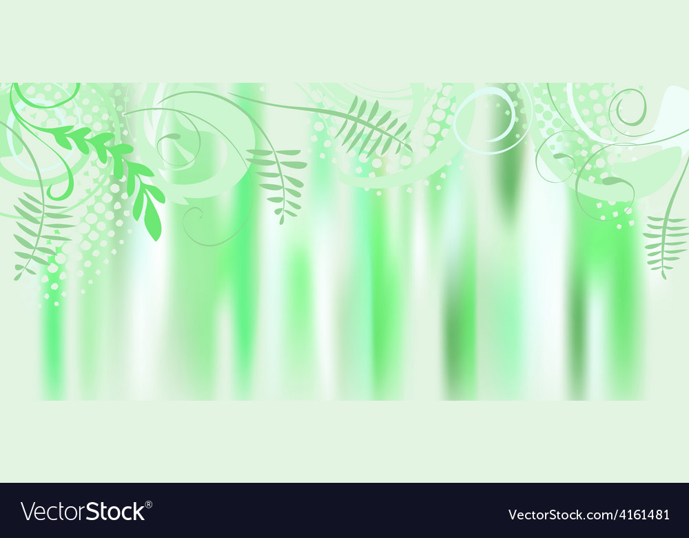 Leaf spring banner vector | Price: 1 Credit (USD $1)