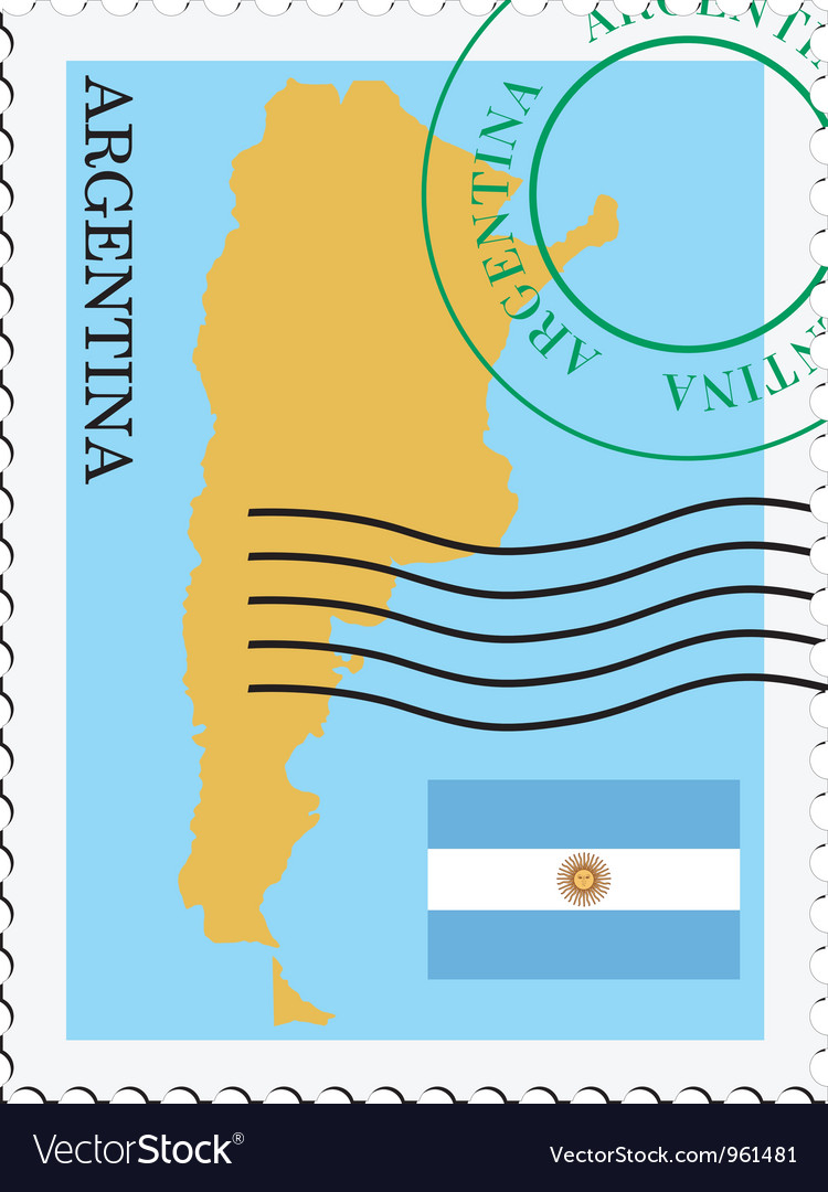 Mail to-from argentina vector | Price: 1 Credit (USD $1)