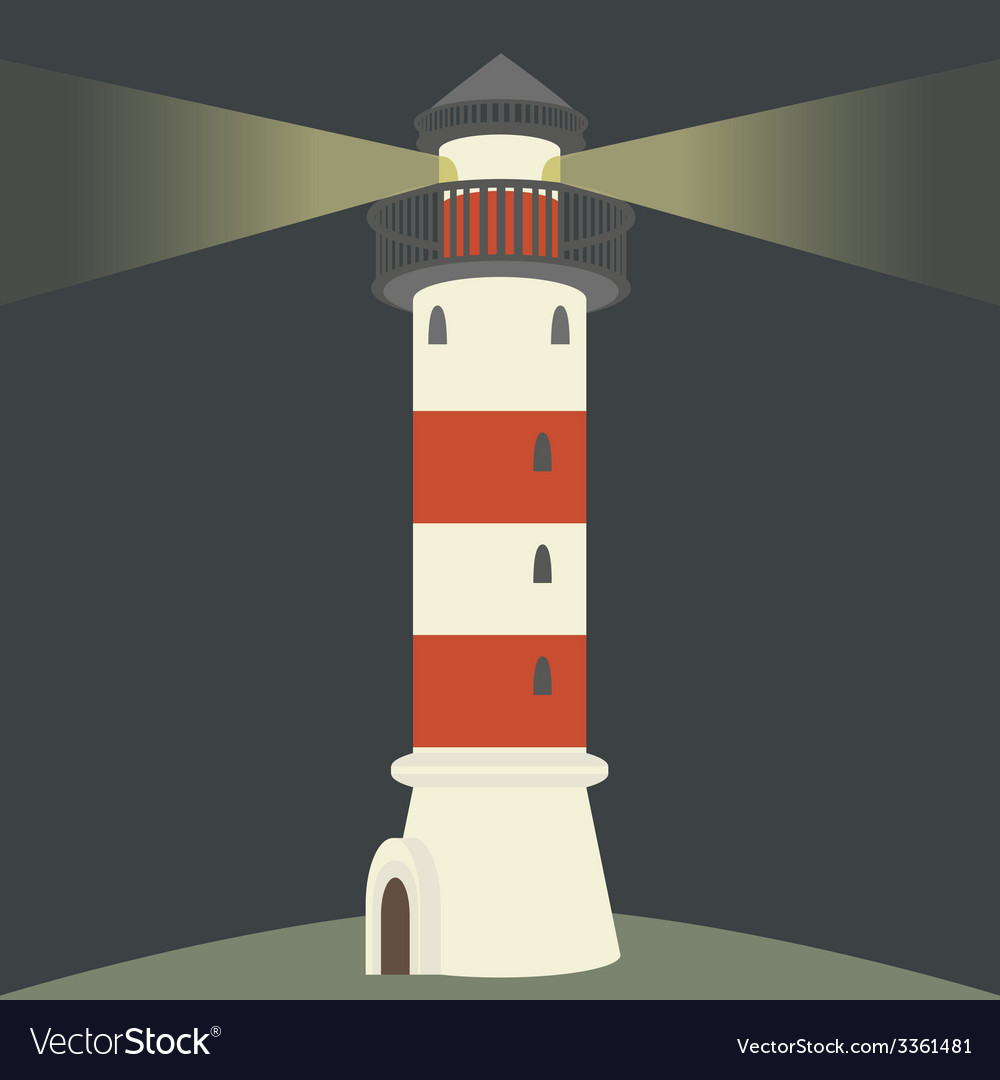 Single lighthouse vector | Price: 1 Credit (USD $1)