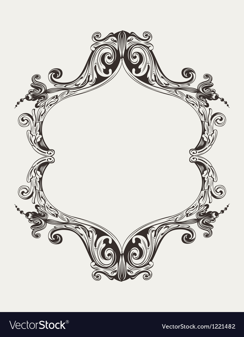 Antique vintage royal frame vector | Price: 1 Credit (USD $1)