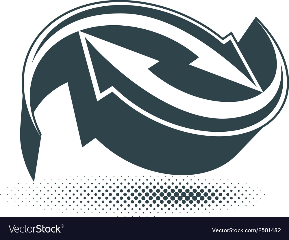 Arrows abstract symbol conceptual pictogram vector | Price: 1 Credit (USD $1)