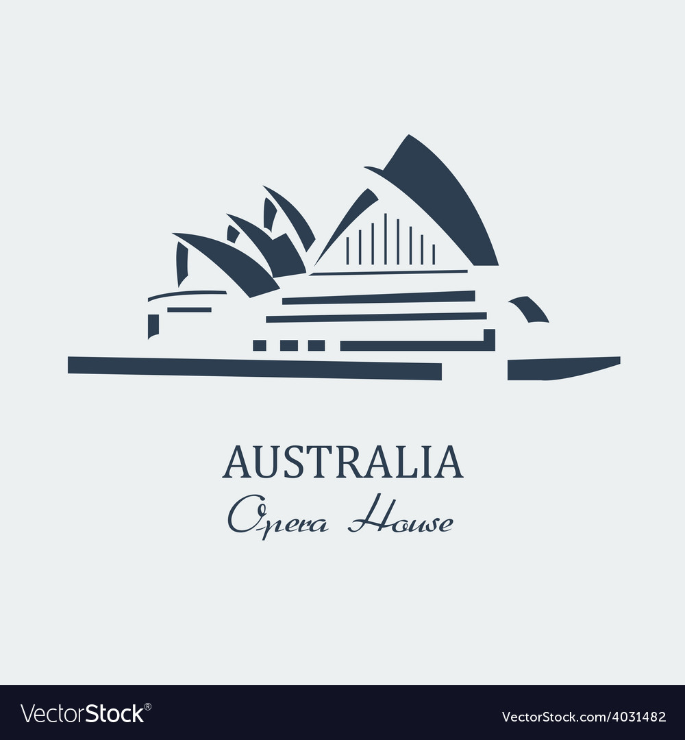 Australia opera house sydney vector | Price: 1 Credit (USD $1)
