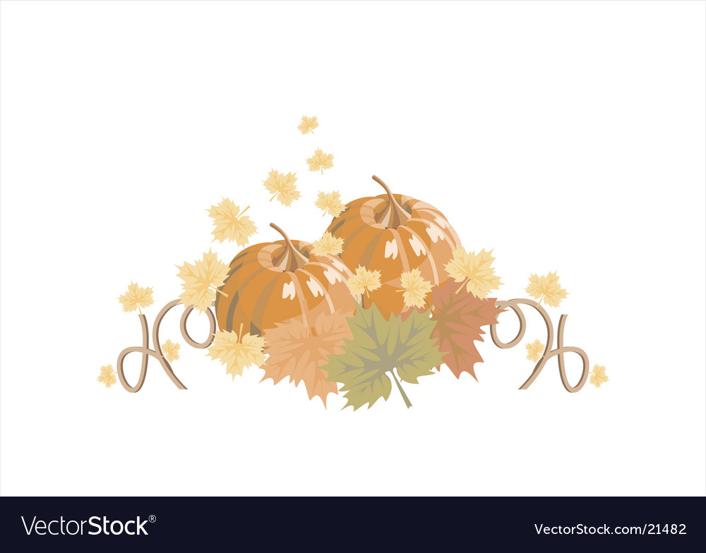 Autumn pumpkin vector | Price: 1 Credit (USD $1)