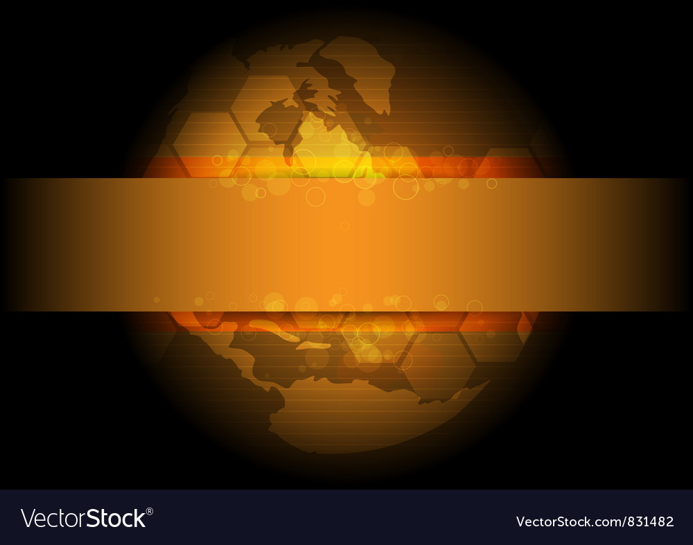 Golden global background design vector | Price: 1 Credit (USD $1)