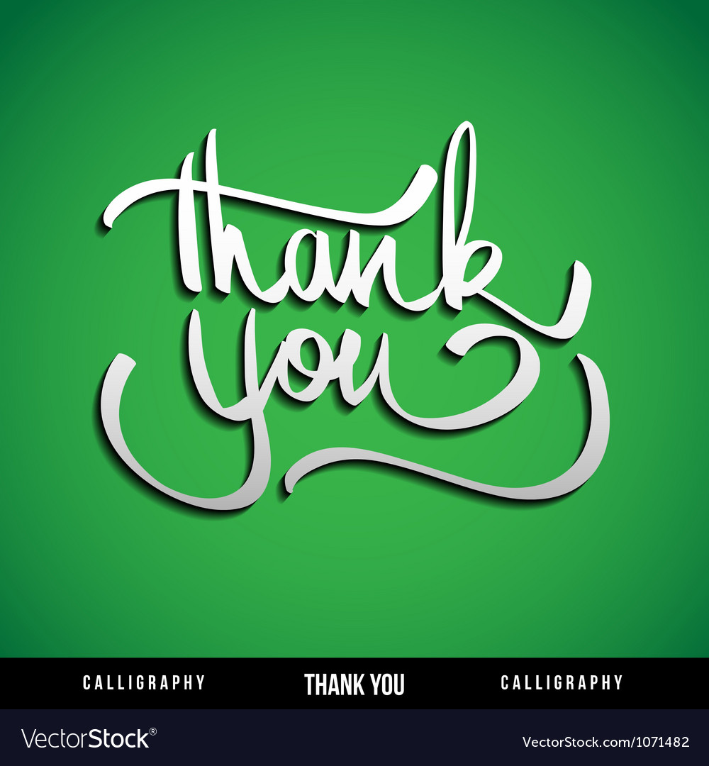 Lettering thank you vector | Price: 1 Credit (USD $1)