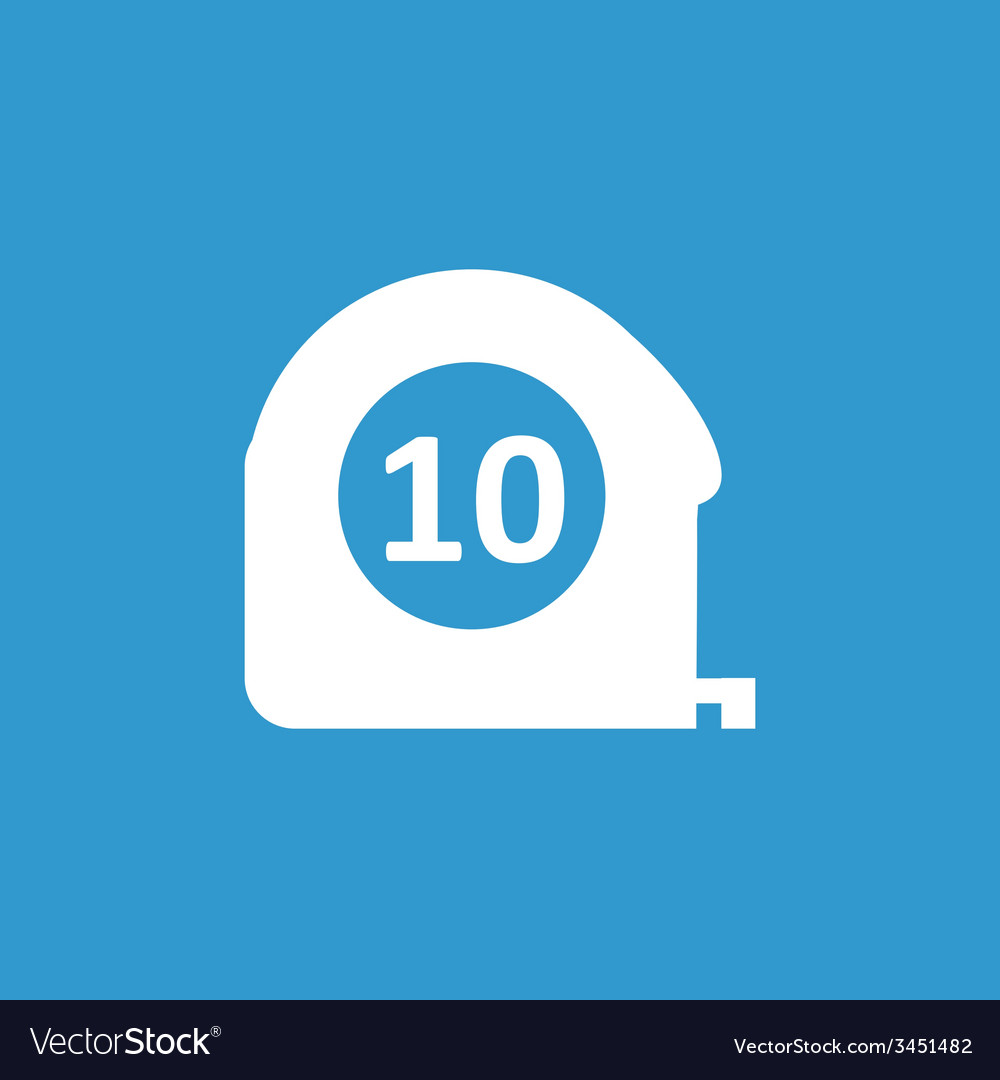 Measurement icon white on the blue background vector | Price: 1 Credit (USD $1)