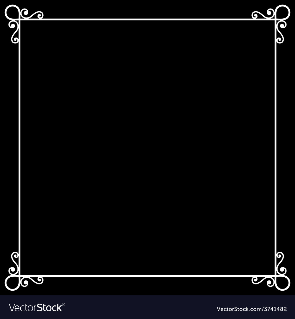 Vintage frame on chalkboard retro background for vector | Price: 1 Credit (USD $1)