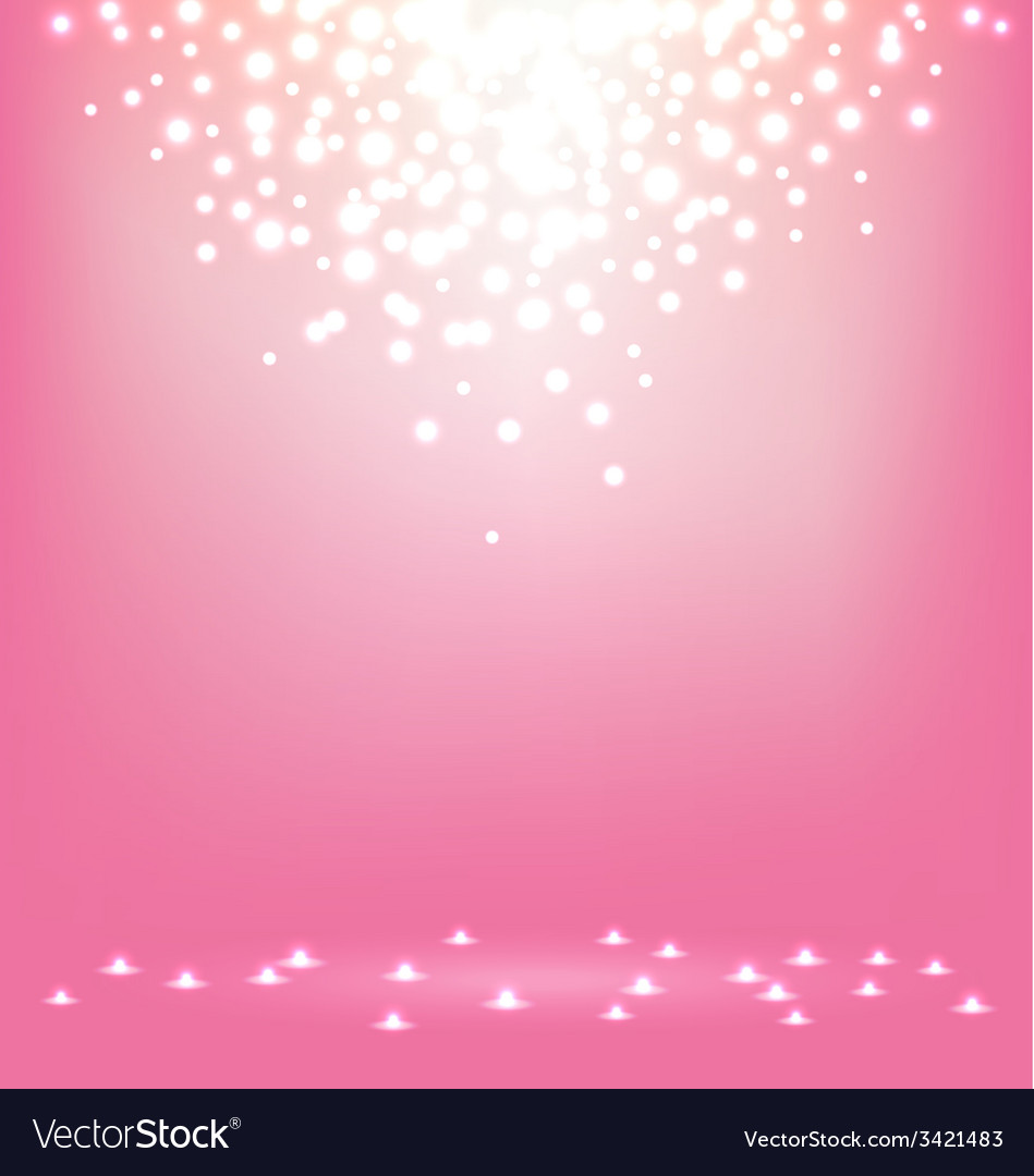 Abstract magic light on sweet pink background vector | Price: 1 Credit (USD $1)