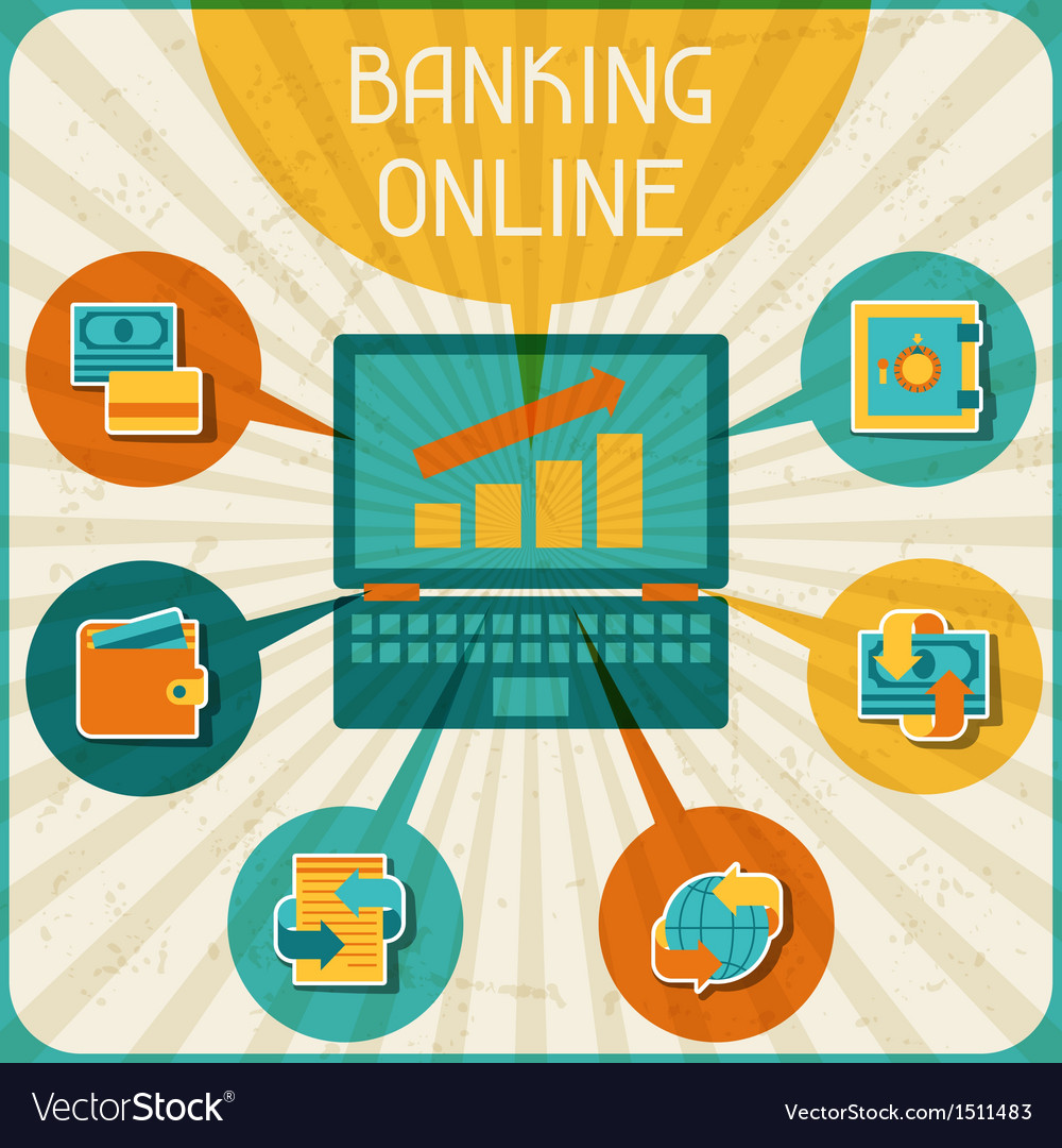 Banking online infographic vector | Price: 1 Credit (USD $1)