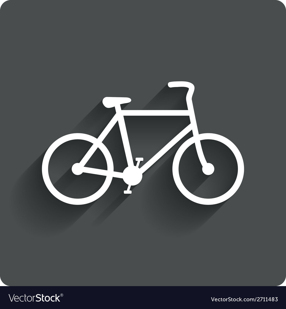 Bicycle sign icon eco delivery vector | Price: 1 Credit (USD $1)