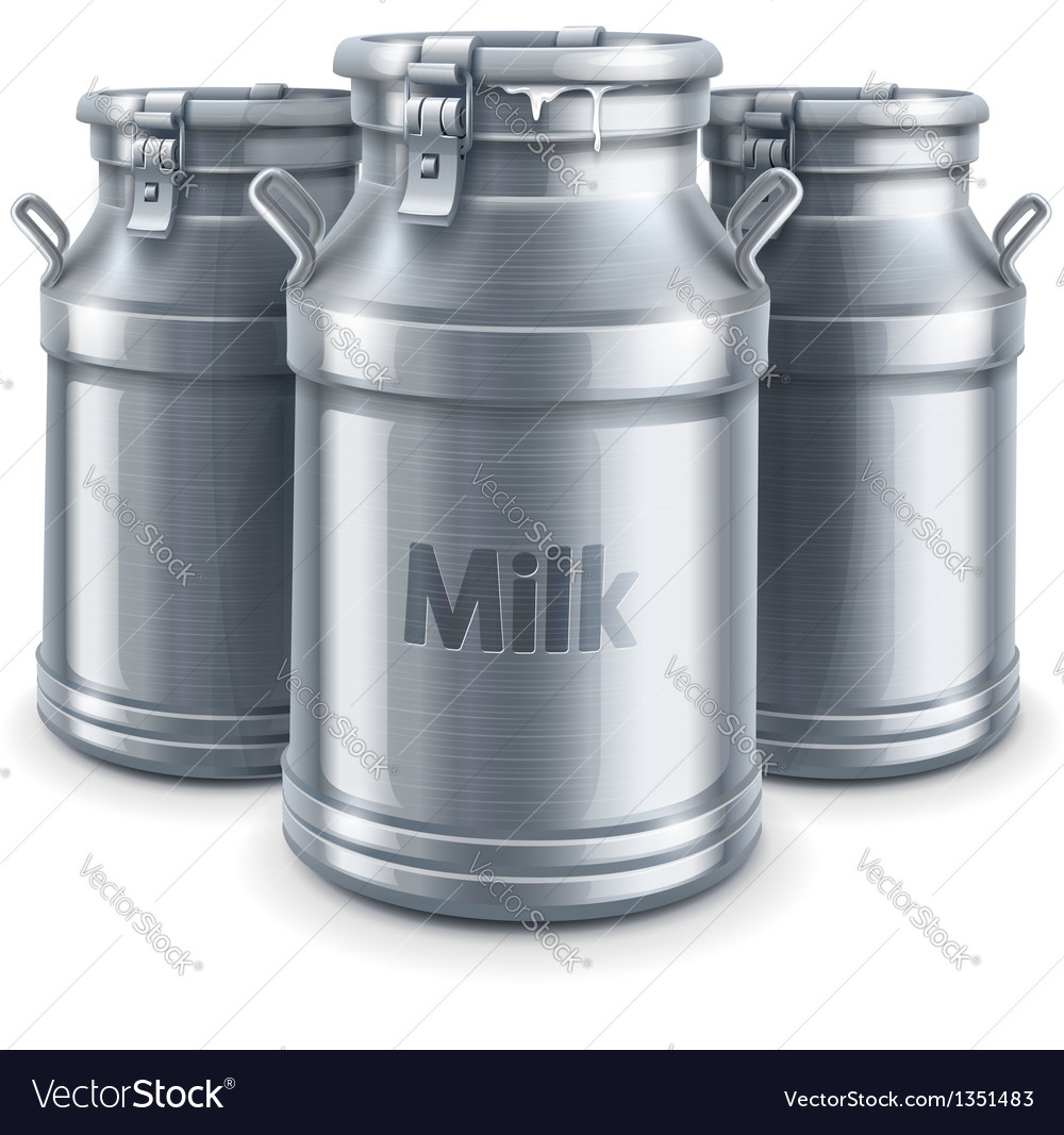 Can containers for milk vector | Price: 3 Credit (USD $3)