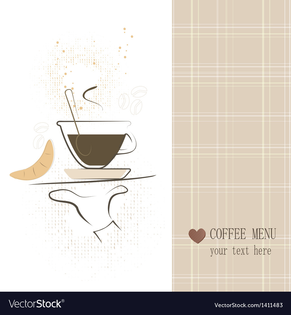 Coffee menu vector | Price: 1 Credit (USD $1)