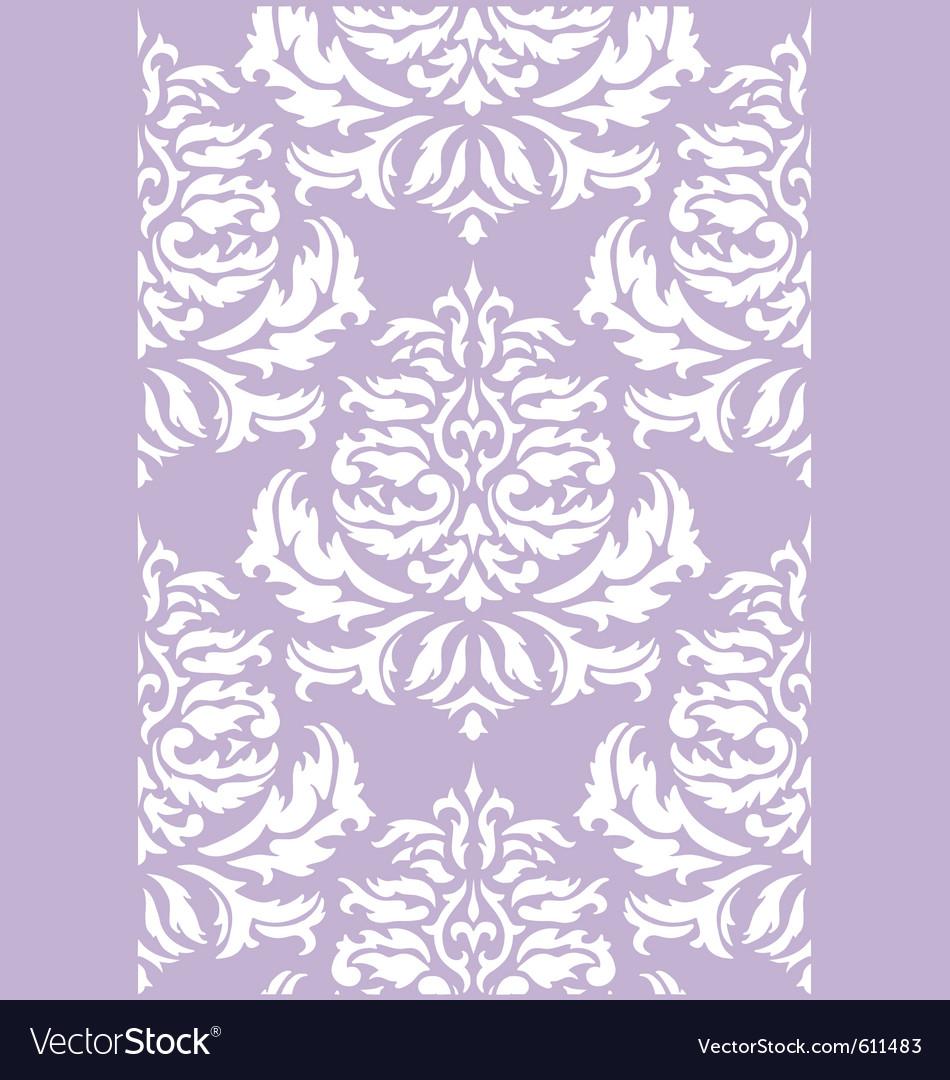 Damask floral wallpaper vector | Price: 1 Credit (USD $1)