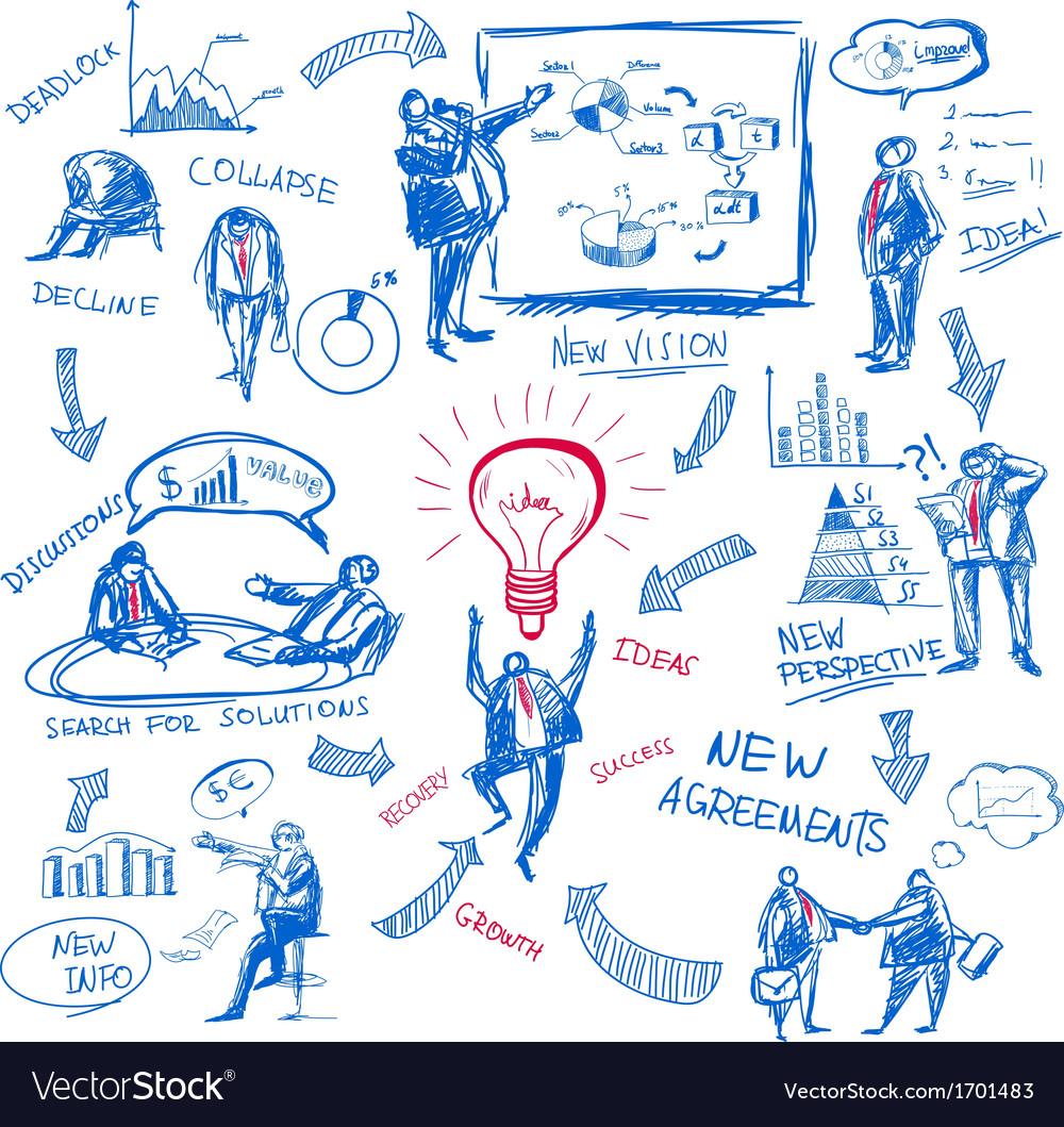 Doodle management vector | Price: 1 Credit (USD $1)
