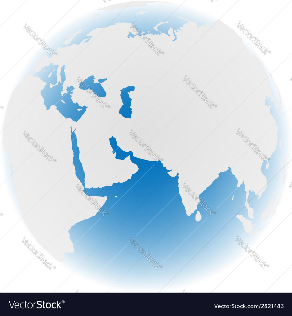 Earth on white vector | Price: 1 Credit (USD $1)