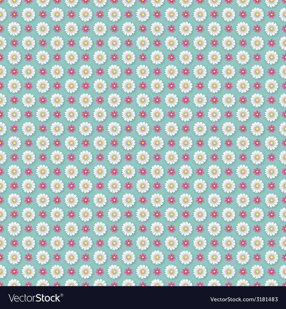 Flower wallpaper pattern vector | Price: 1 Credit (USD $1)