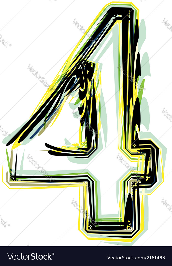 Font number 4 vector | Price: 1 Credit (USD $1)
