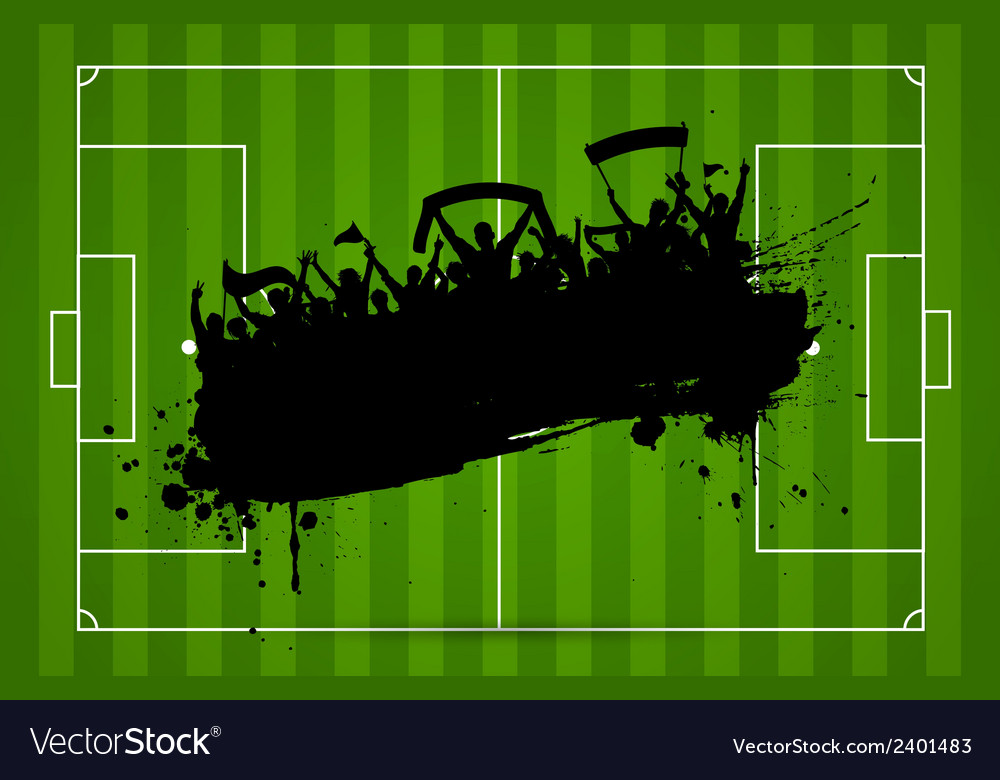 Football or soccer background with grunge vector   Price: 1 Credit (USD $1)