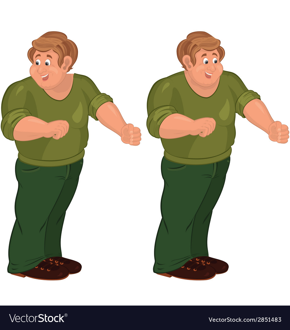 Happy cartoon man standing in green pants and vector   Price: 1 Credit (USD $1)