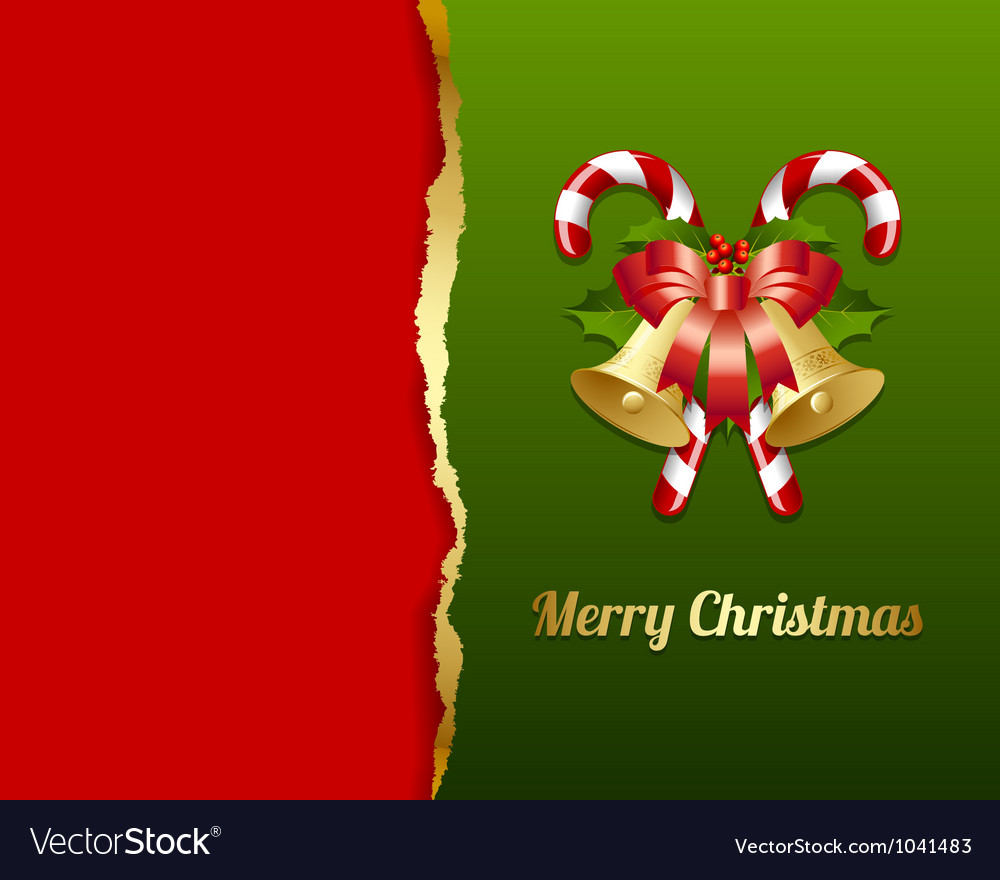 Ripped christmas card vector | Price: 1 Credit (USD $1)