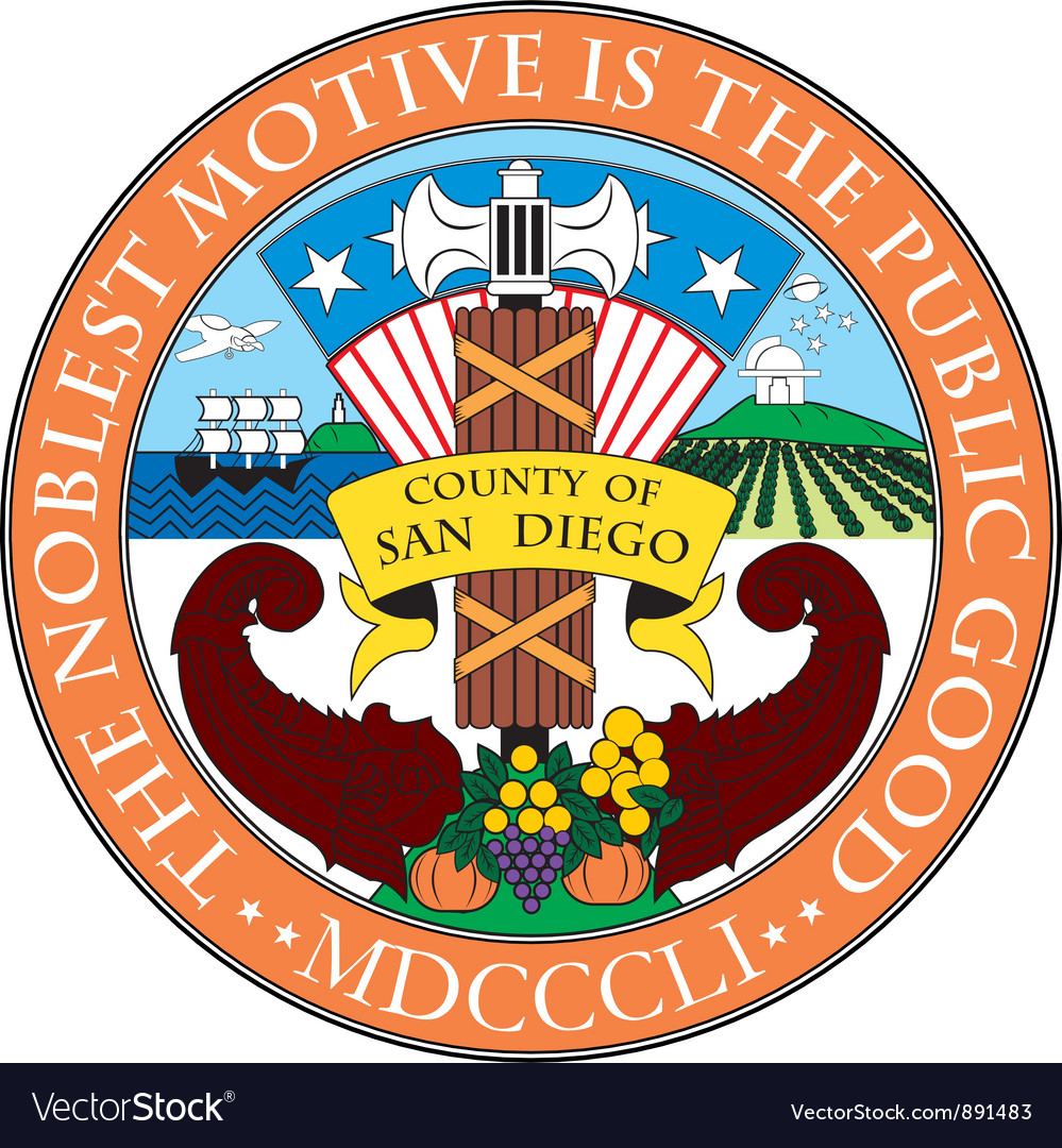 San diego county seal vector | Price: 1 Credit (USD $1)