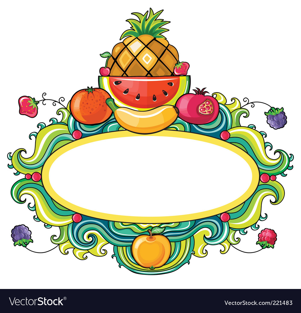 Tropical fruit framework vector | Price: 3 Credit (USD $3)
