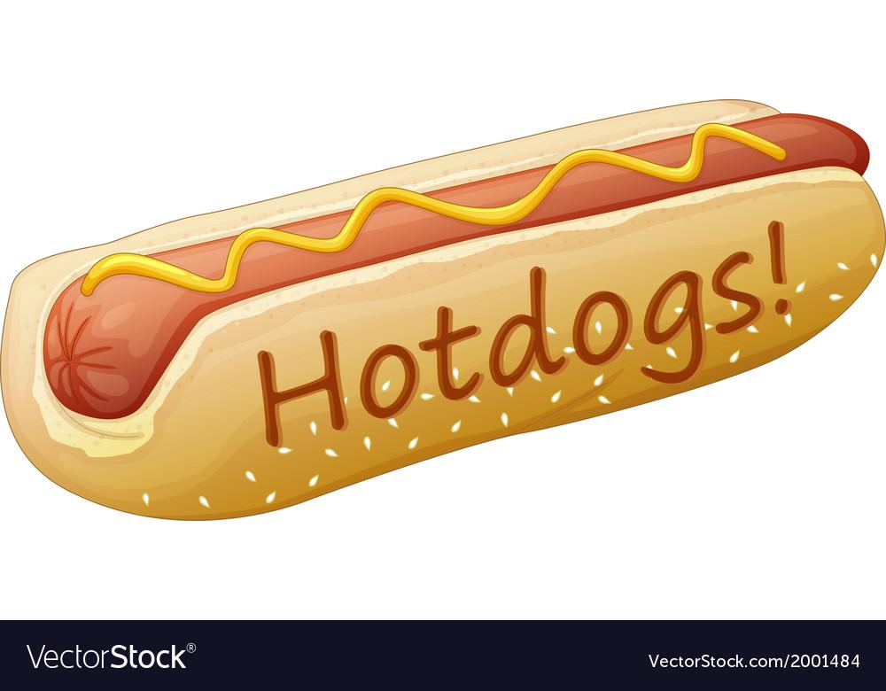 A yummy hotdog vector | Price: 1 Credit (USD $1)