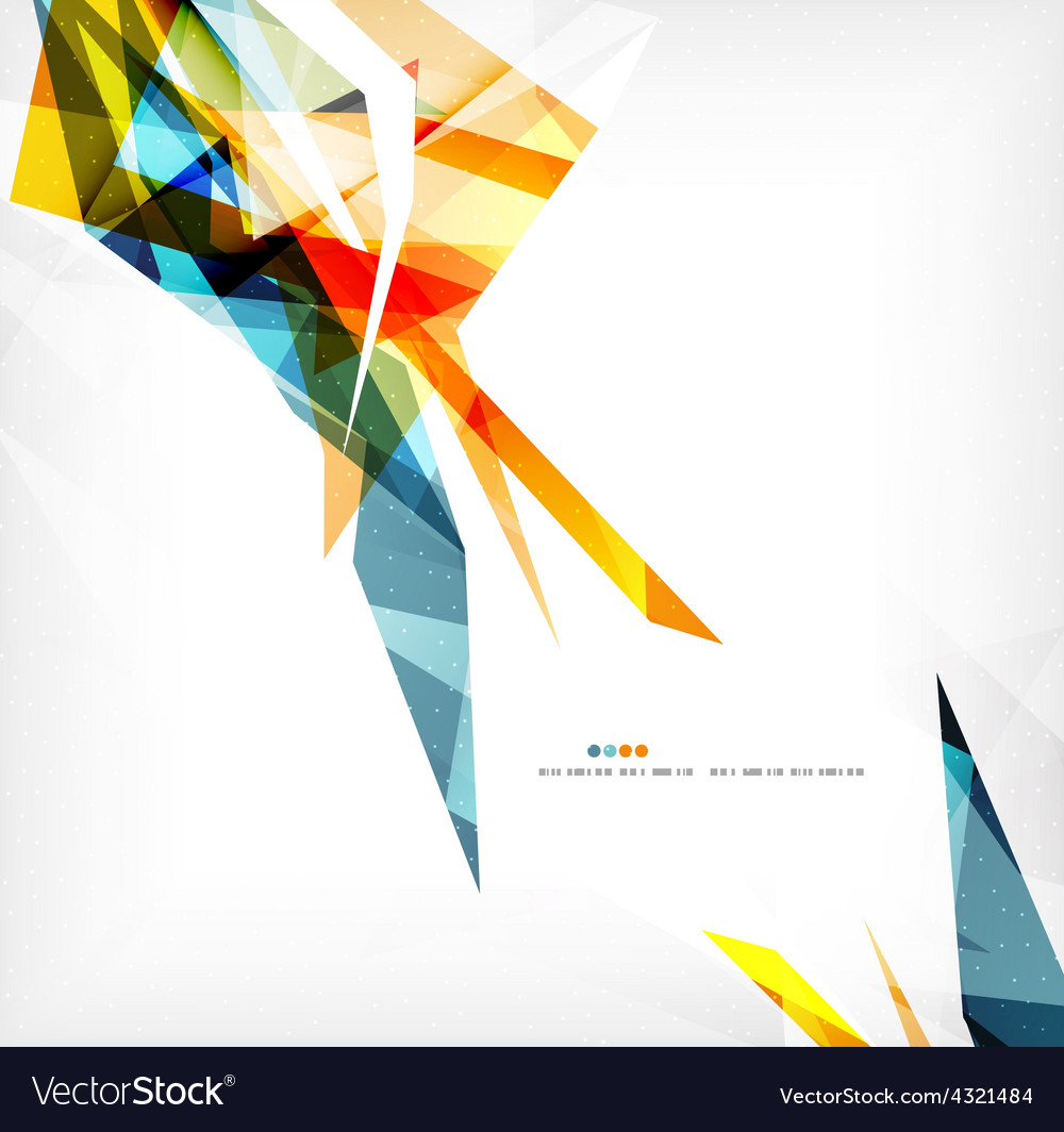 Angular geometric color shapes vector | Price: 1 Credit (USD $1)