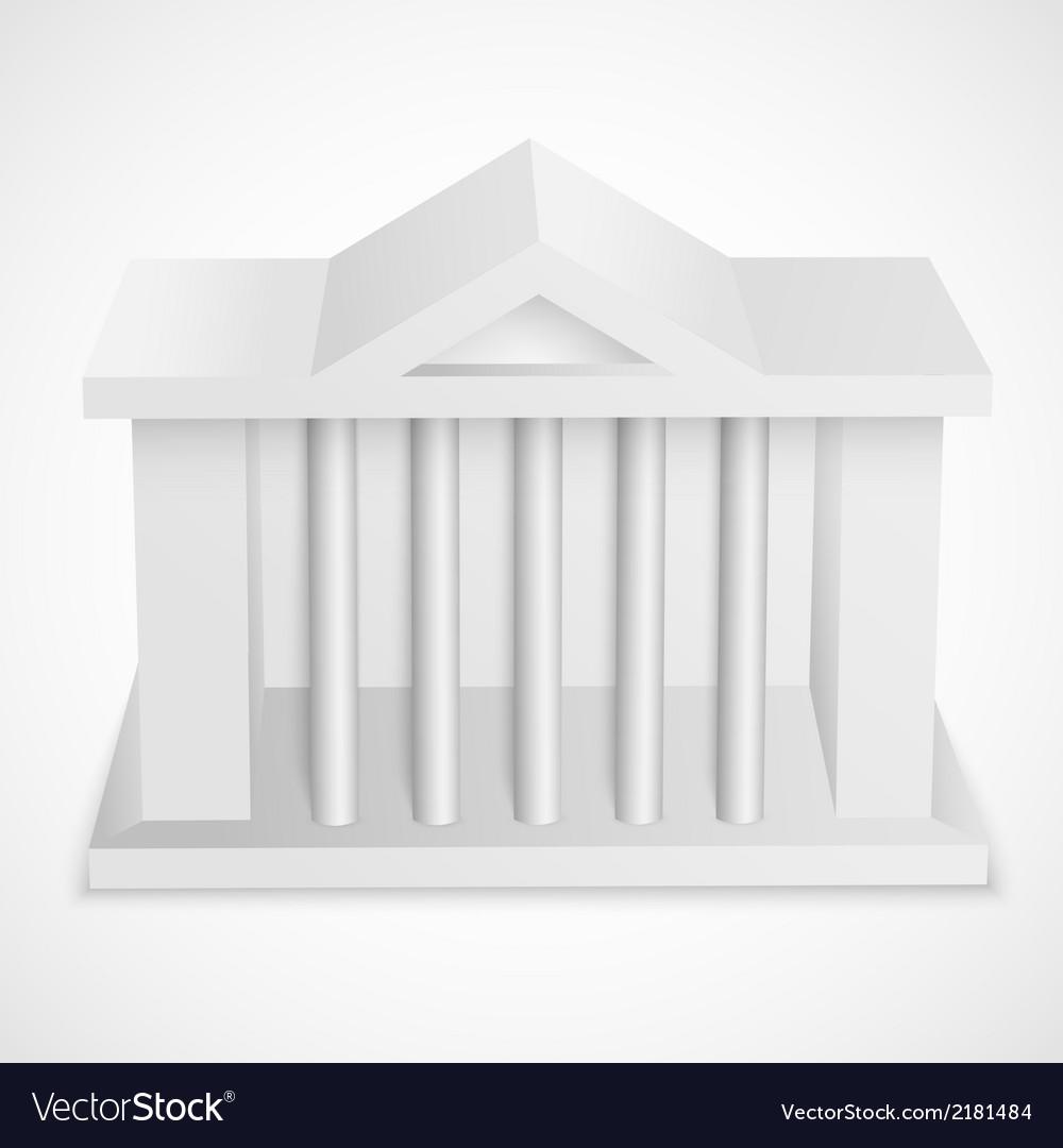 Bank icon building vector | Price: 1 Credit (USD $1)