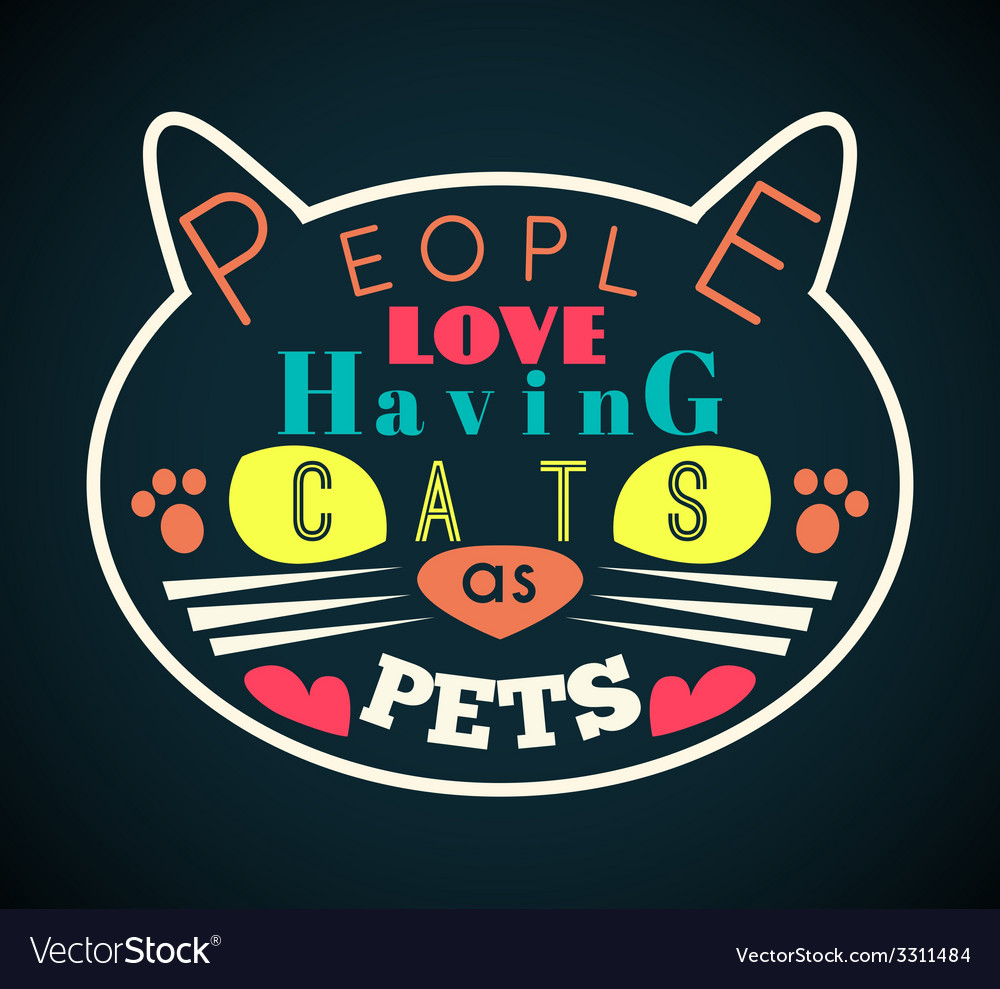 Cat silhouette with yellow eyes and message vector | Price: 1 Credit (USD $1)