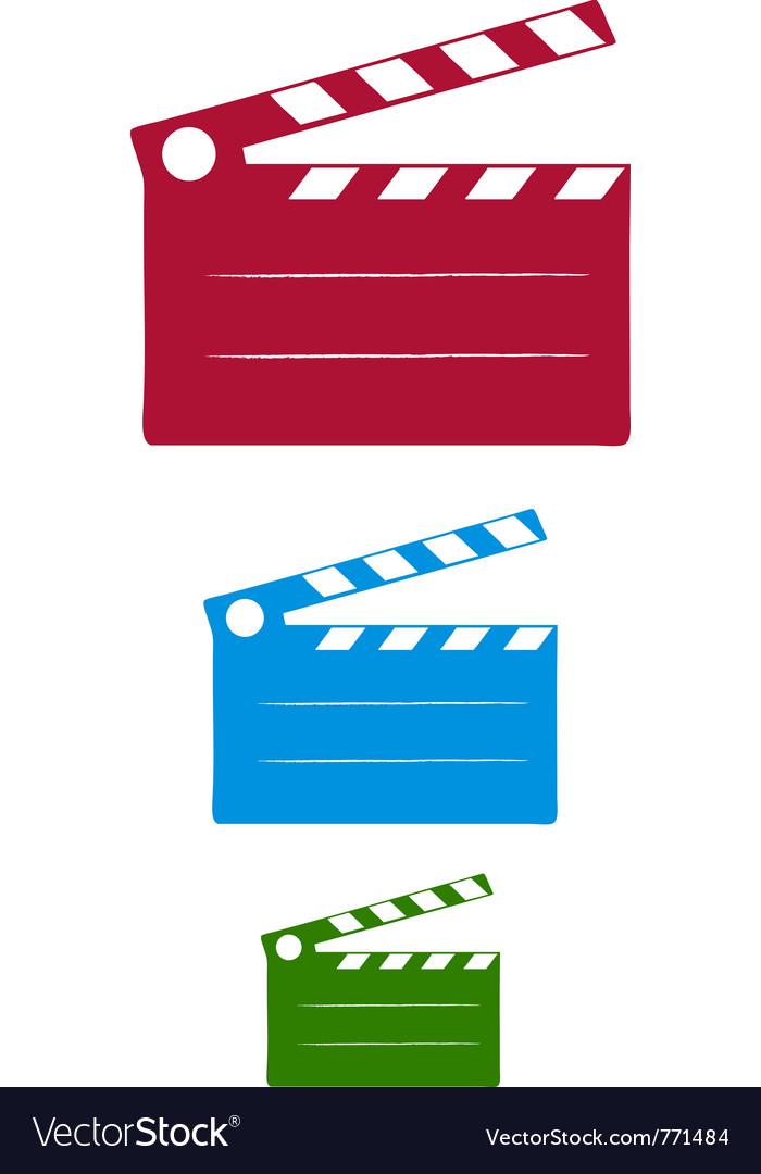 Cinema slate vector | Price: 1 Credit (USD $1)