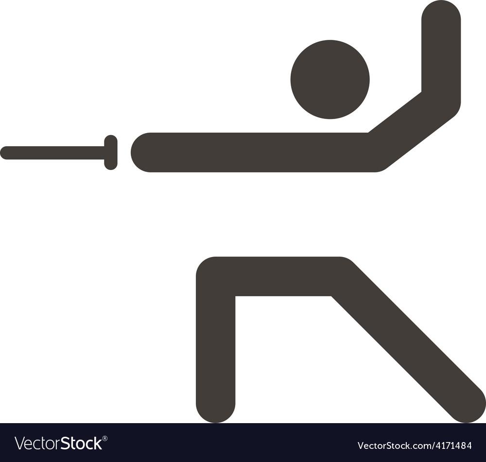 Fencing icon vector   Price: 1 Credit (USD $1)