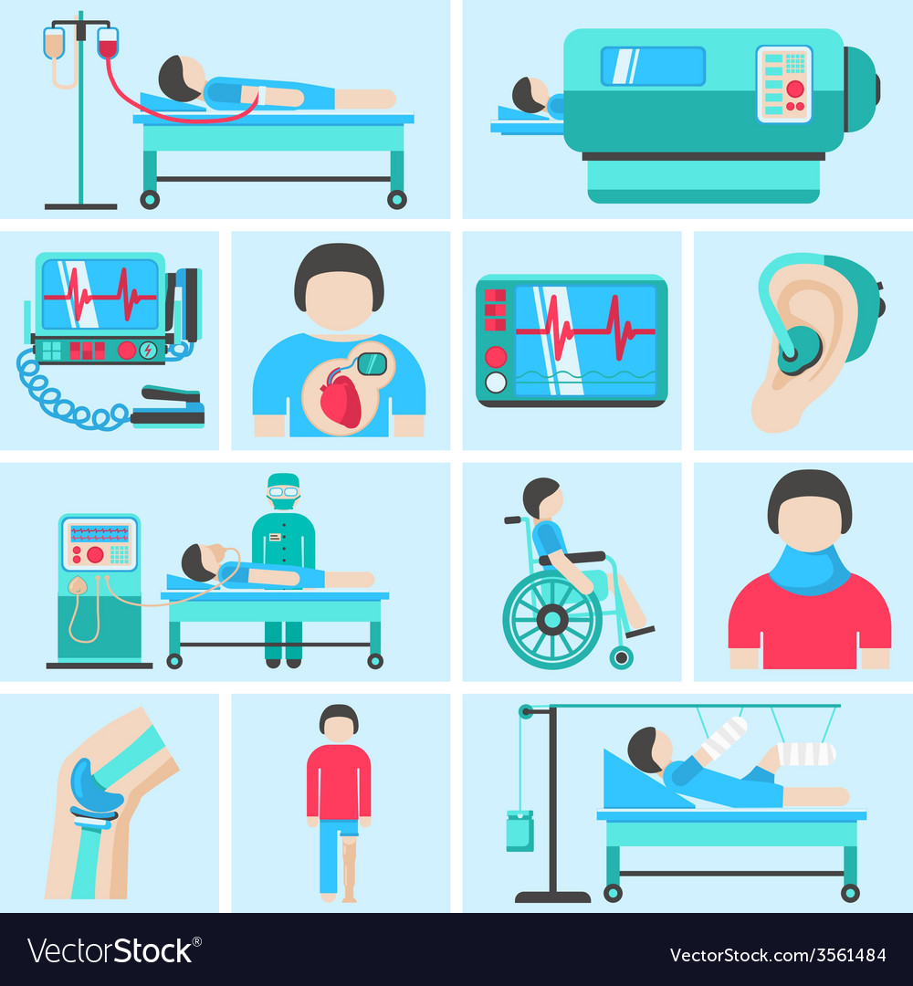 Life support medical equipment icons vector | Price: 1 Credit (USD $1)