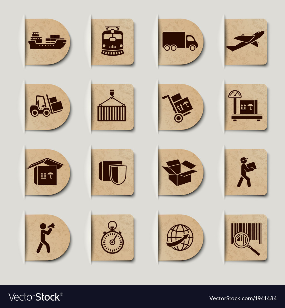 Logistic services labels set vector | Price: 1 Credit (USD $1)