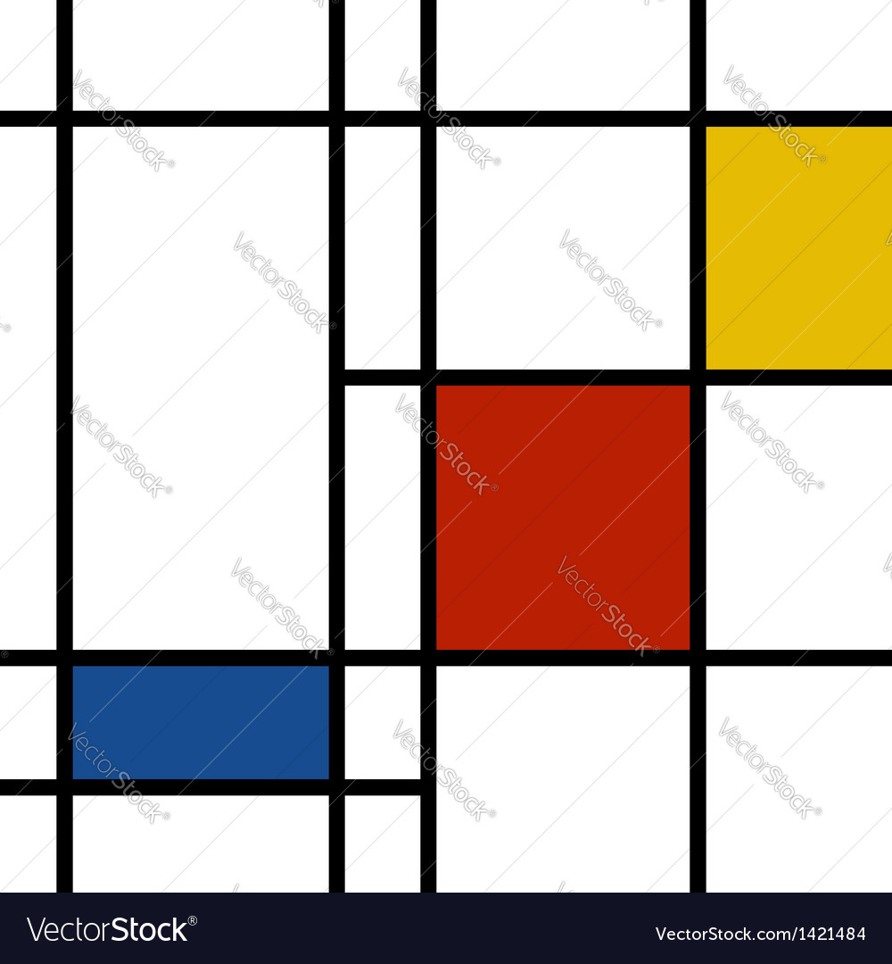 Mondrian inspiration vector | Price: 1 Credit (USD $1)