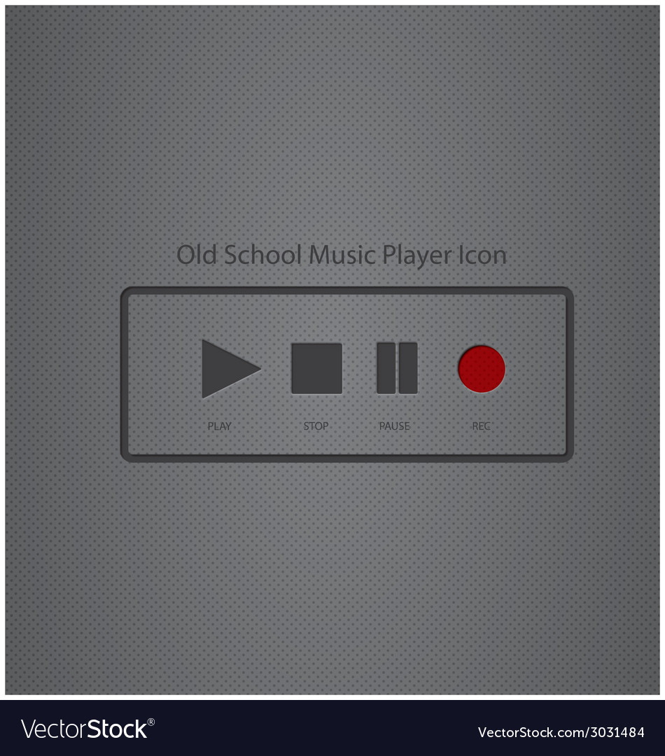 Old school music player icon vector | Price: 1 Credit (USD $1)