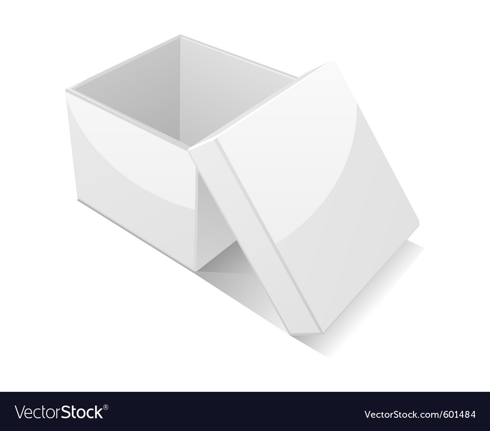 Open white gift box vector | Price: 1 Credit (USD $1)
