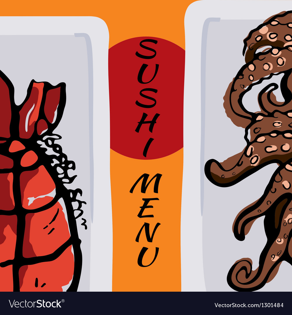 Sushi menu vector | Price: 1 Credit (USD $1)