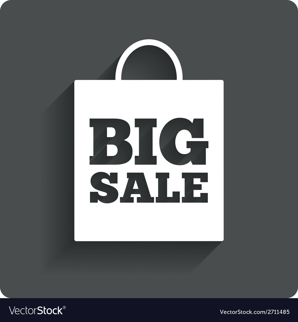 Big sale bag sign icon special offer symbol vector | Price: 1 Credit (USD $1)